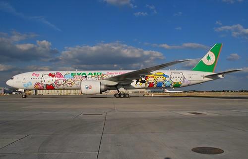 Avión EVA Air con diseño de Hello Kitty