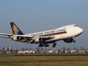 Avión de la aerolínea Singapore Airlines
